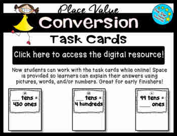 Place Value Conversion Task Cards