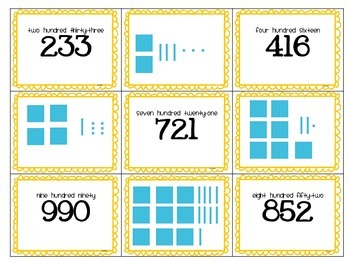 3-Digit Place Value Cooperative Learning Activities- Hundreds, Tens and Ones