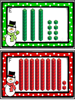 Place Value Count The Room -Snowmen