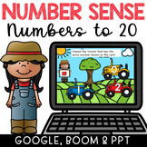 Number Sense 1-20 Google Classroom Math Unit + PPT & BOOM Cards Deck!