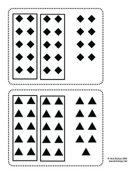 Place Value Counting Cards