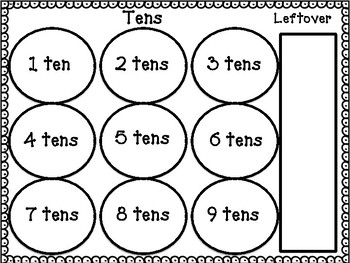 Place Value Counting Mat and Worksheet Pack