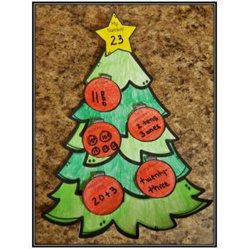 Place Value Craft: Christmas Tree