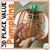 3D Place Value Craft - Fall and Halloween Math