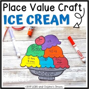 Place Value Activity | Ice Cream Craft