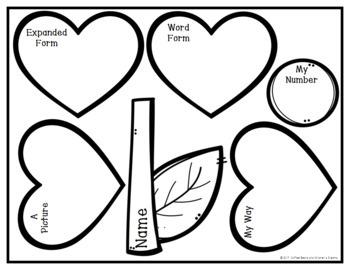 Place Value Craft: Valentine's Day Flower