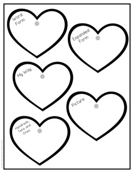 Place Value Craft: Heart Mobile