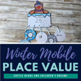 Place Value Craft: Winter Mobile