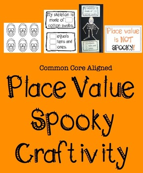 First Grade Place Value Craft / Activity- Spooky Themed- C