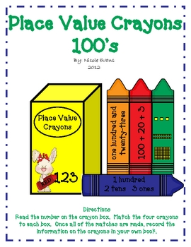 Place Value Crayons - 100's