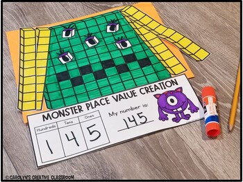 Place Value Creativity [Halloween Monster Math Theme]