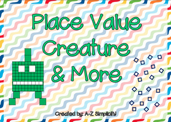 Place Value Creature Craft and More! Numbers 0-120