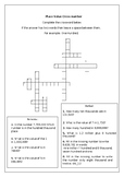 Place Value Cross number