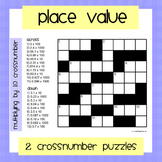 Place Value CrossNumber Puzzles (x by 10 and column method)