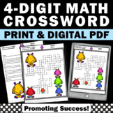 4 Digit Place Value Worksheets Crossword 2nd 3rd Grade Math Review Digital