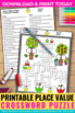 Place Value 6 Digit Crossword Puzzle Worksheet 3rd 4th 5th