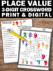 3 Digit Place Value Worksheet 1st Grade Math Crossword Puzzle, Early Finishers