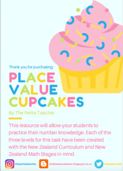 Place Value Cupcakes - Number Knowledge and Place Value Practice