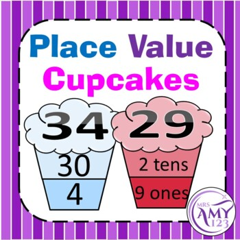 Place Value Cupcakes Activity -Tens and Ones