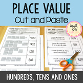 Place Value Cut and Paste - Hundreds, Tens and Ones