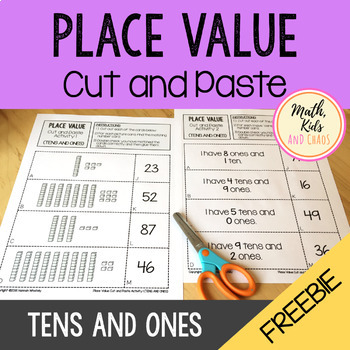 Place Value Cut and Paste - Tens and Ones