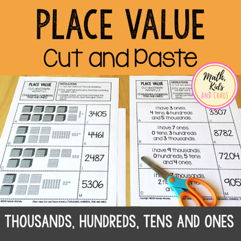 Place Value Cut and Paste - Thousands, Hundreds, Tens and Ones