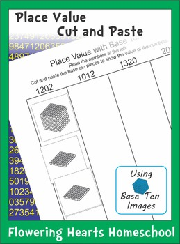 Place Value Cut and Paste with Base Ten