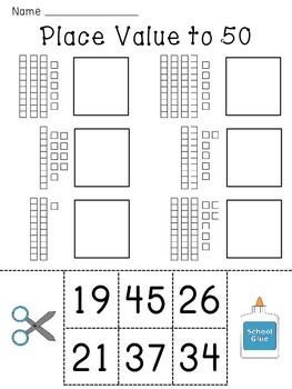 Place Value Worksheets (Base 10 blocks numbers practice)