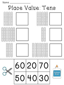 place value worksheets base 10 blocks numbers practice by miss giraffe. Black Bedroom Furniture Sets. Home Design Ideas