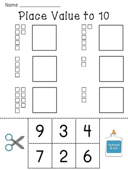 Base Ten Kindergarten Worksheets