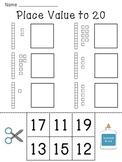 Place Value Worksheets (Base 10 blocks numbers practice of tens and ones)