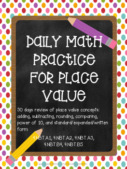 Place Value - Daily Math Practice