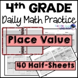 Place Value Daily Math Review 4th Grade Bell Ringers Warm Ups