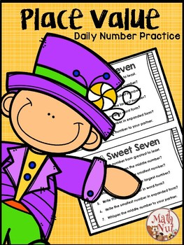 """Place Value """"Daily Number Practice"""""""