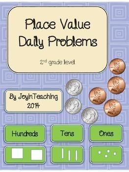 Place Value Daily Problems-Journal/Homework/Classwork-2nd grade