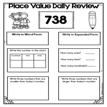 Place Value Worksheets Daily Review