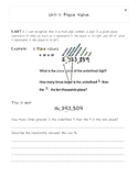 Place Value Daily Student Sheets