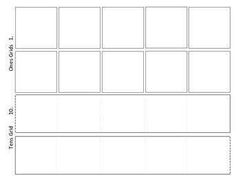 Place Value Decimal Grids: Tens, Ones, Tenths Hundredths 5.NBT.B.7