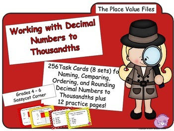 Place Value - Decimal Place Value Task Cards Bundle (The Math Files)