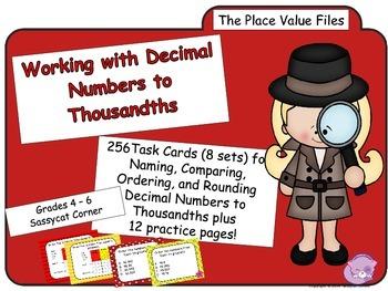 Place Value - Decimal Place Value Task Cards Bundle (The Math Files)