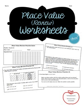 Place Value Decimal Review – Practice Supplements