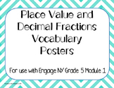 Place Value Decimal Vocabulary Posters Word Wall Engage NY