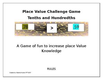 Place Value Decimals Battle Game