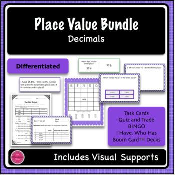 Place Value Decimals 5 Game Bundle