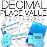 Decimal Place Value Challenge Printables & Task Cards