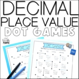 Decimal Place Value Math Centers: Dot Games