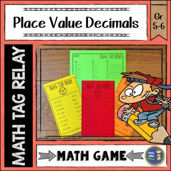 Place Value Decimals Math Tag Relay