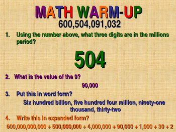 Power Point Lesson Place Value Decimals Whole Numbers Fractions Mixed Numbers