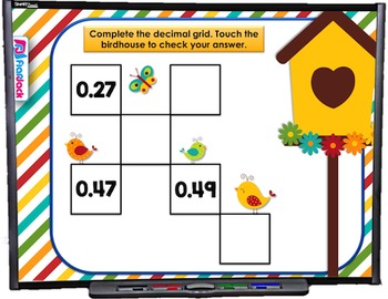 Place Value Decimals and Whole Numbers SMART BOARD Game (C