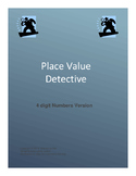 Place Value Detective 4 digit numbers version